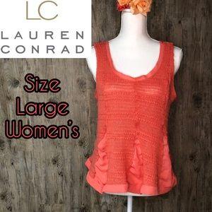 Lauren Conrad coral tank top